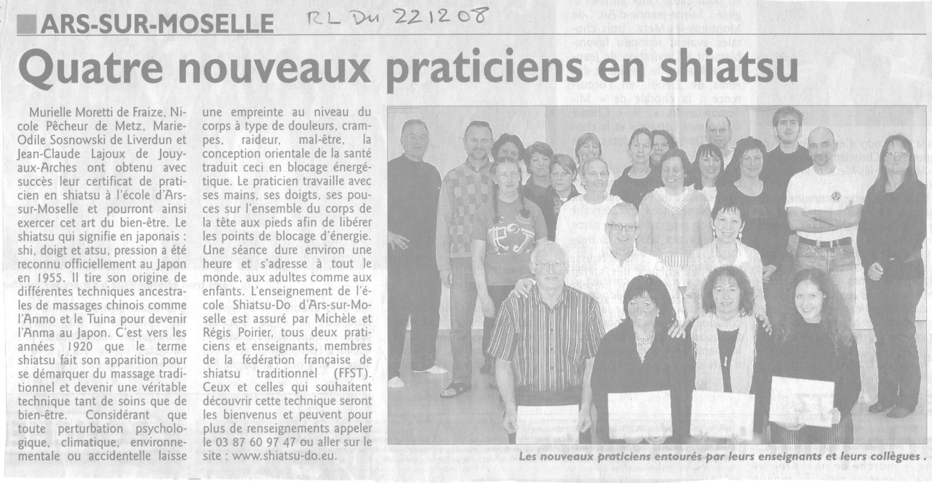 Praticiens certifiés en 2008